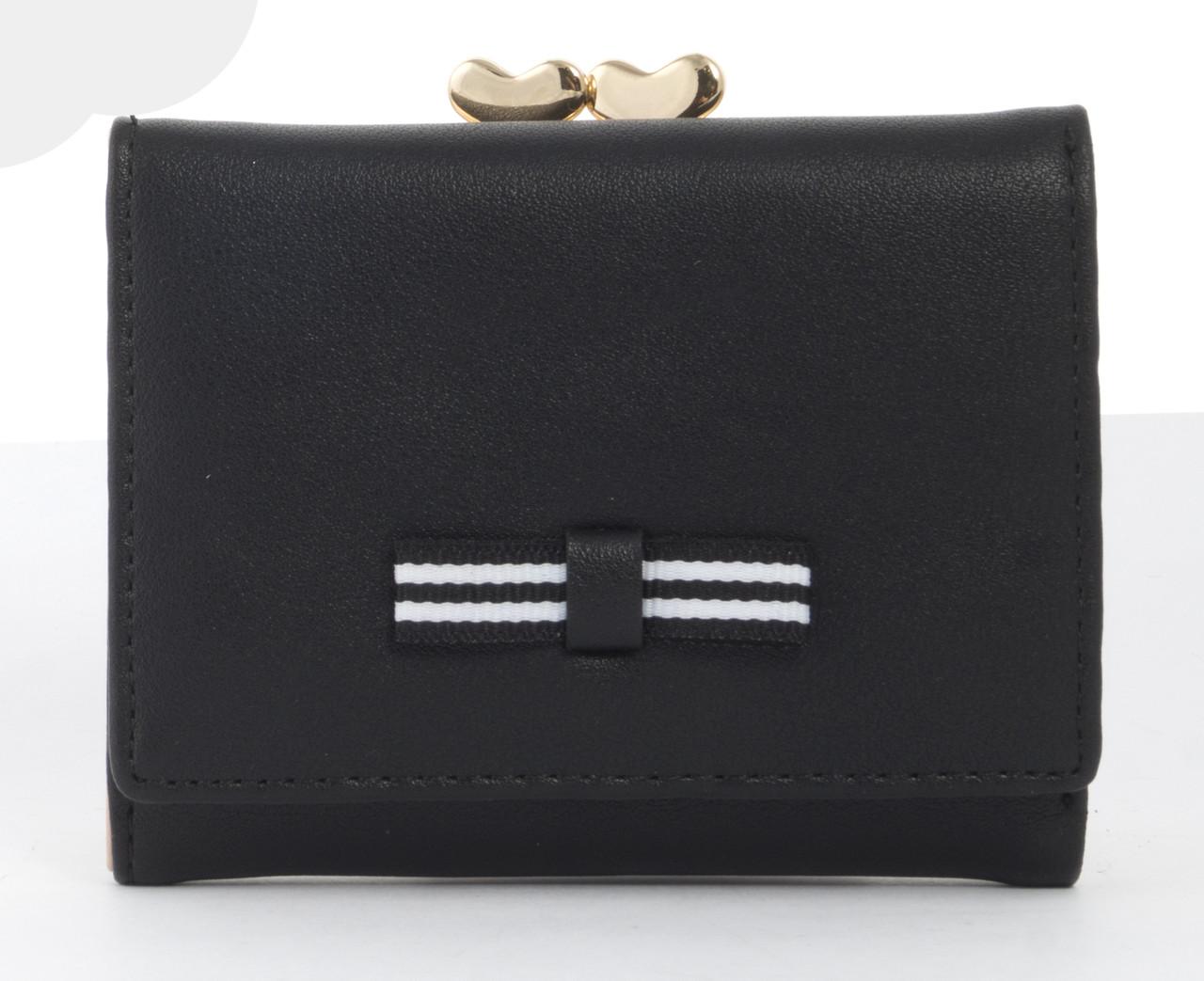 Женский маленький многофункциональный прочный вместительный кошелек TAILIAN art.T7368-048 черный