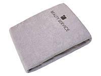 Чехол махровый защитный на кушетку, массажный стол, чехол для массажного стола(хлопок 100%) Серый