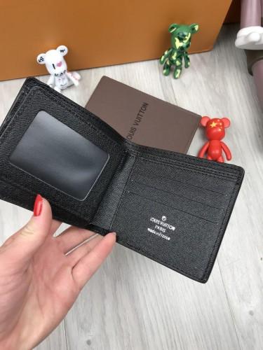 fb4fb2f235bf ... Классический кошелек Louis Vuitton LV черный мужской женский портмоне  кожзам бумажник Луи Виттон люкс реплика, ...