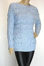 Жіночий теплий вязаний джемпер, фото 3