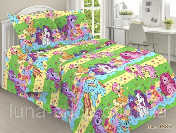 Полуторный подростковый постельный комплект Литтл Пони, ранфорс, хлопок