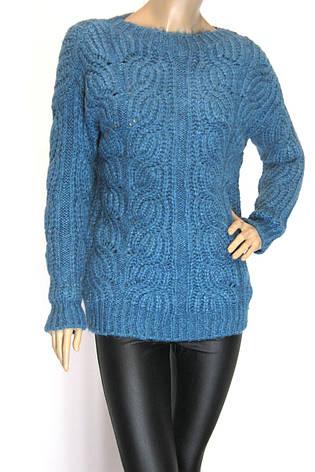 Жіночий теплий вязаний джемпер, фото 2