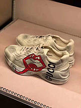 Женские кроссовки Gucci Retro beige. Живое фото (Реплика ААА+), фото 2
