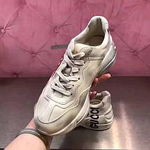Женские кроссовки Gucci Retro beige. Живое фото (Реплика ААА+), фото 3