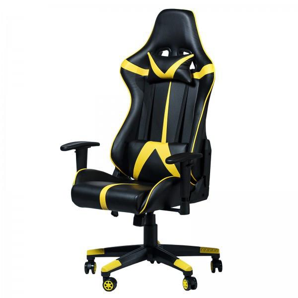 """Компьютерное кресло для геймера """"Zeus Drive"""" Yellow"""