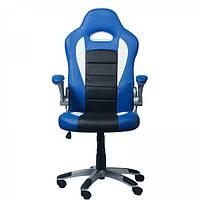 """Компьютерное кресло для геймера """"Zeus Forsage"""" Blue"""