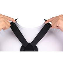 Крепление на грудь для экшн камер GoPro Xiaomi   (с центральным крепежом), фото 3