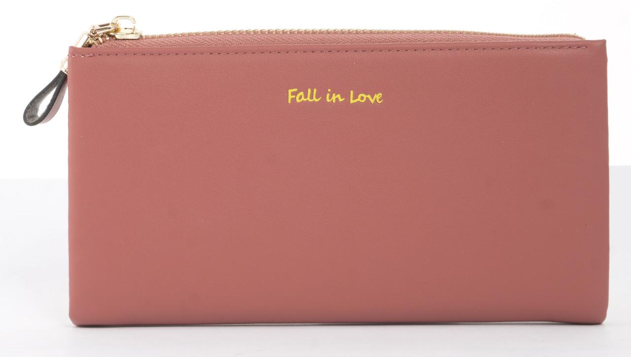 Міцний стильний зручний жіночий гаманець барсетка високої якості Canevo art. J-7095 кораловий