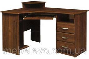 Стол письменный  угловой МДФ 750х1300х900мм    Мебель-Сервис