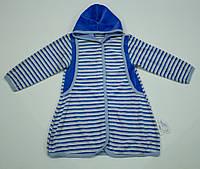 Велюровый халатик  для девочки, фото 1