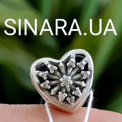 Срібний шарм Пандора Серце і стріли - Намистина Пандора Серце срібло 925