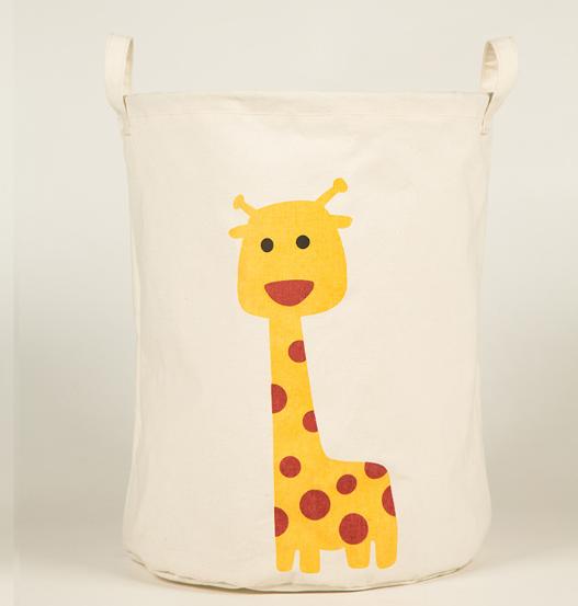 Бочка для іграшок полотняна з аплікацією 45*35 см