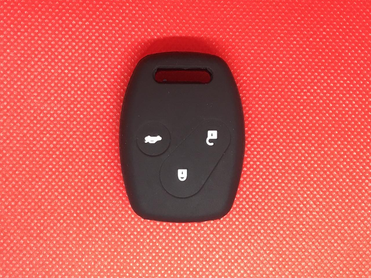 Чехол силиконовый на ключ 3 кнопки Хонда Honda CR-V, Civic, Accord, Pilot, Fit
