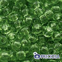 Бисер Preciosa 10/0 цв. 01161, Прозрачный Солгель Окрашенный CSD, Зеленый, Круглый, (УТ0003677)