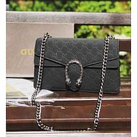 Женская сумочка Gucci (Гуччи), черный цвет