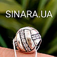 Шарм серебряный с фианитами - Серебряная бусина Пандора с серебром, фото 4
