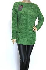 Вязаный женский джемпер полувер свитер, фото 3
