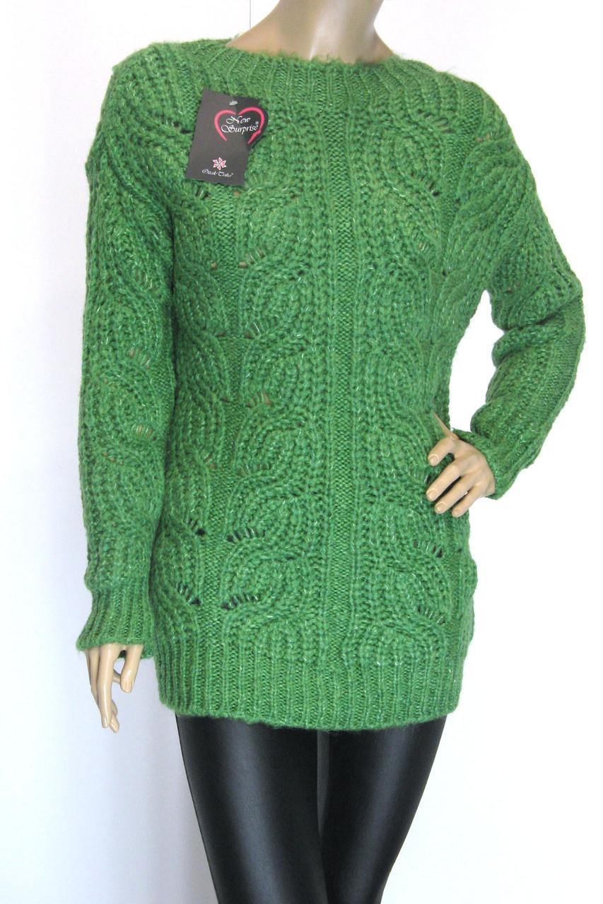 Вязаный женский джемпер полувер свитер