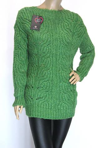 Вязаный женский джемпер полувер свитер, фото 2