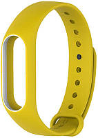 Ремешок UWatch Double Color Replacement Silicone Band For Xiaomi Mi Band 2 Yellow/White Line