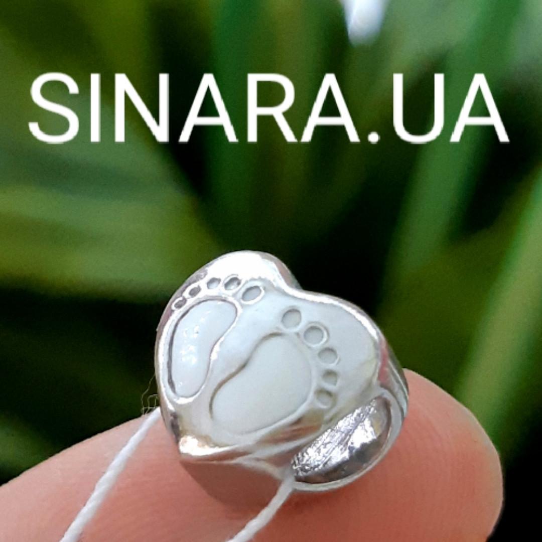 Шарм Сердце и Ножки Пандора серебро 925