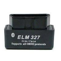 C06 ELM327 V2.1 OBD2 Bluetooth V2.0 Автомобильный автодиагностический сканер инструментов - Чёрный