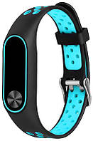 Ремешок UWatch Replacement Sports Strap for Mi Band 2 Black/Blue, фото 1