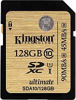 Карта памяти Kingston SDHC/SDXC Class 10 UHS-I 128Gb