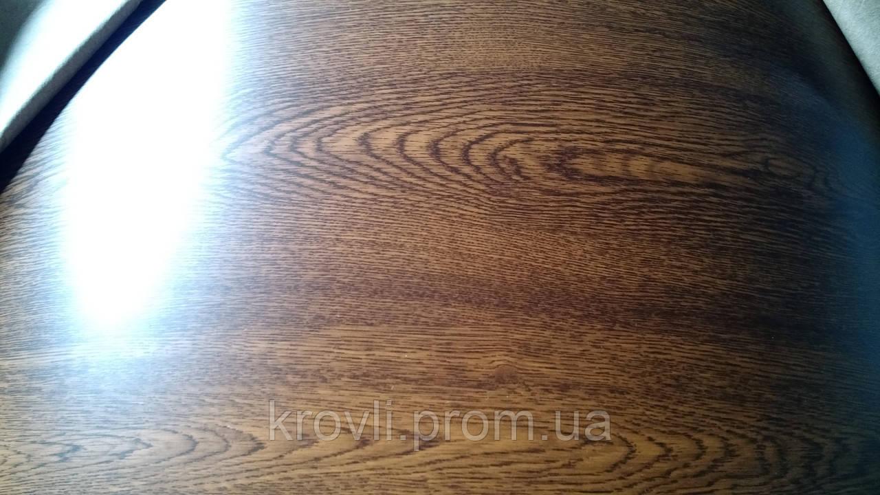 Профнастил ПС-8 0,4 мм Ламинированный Золотой дуб, фото 1