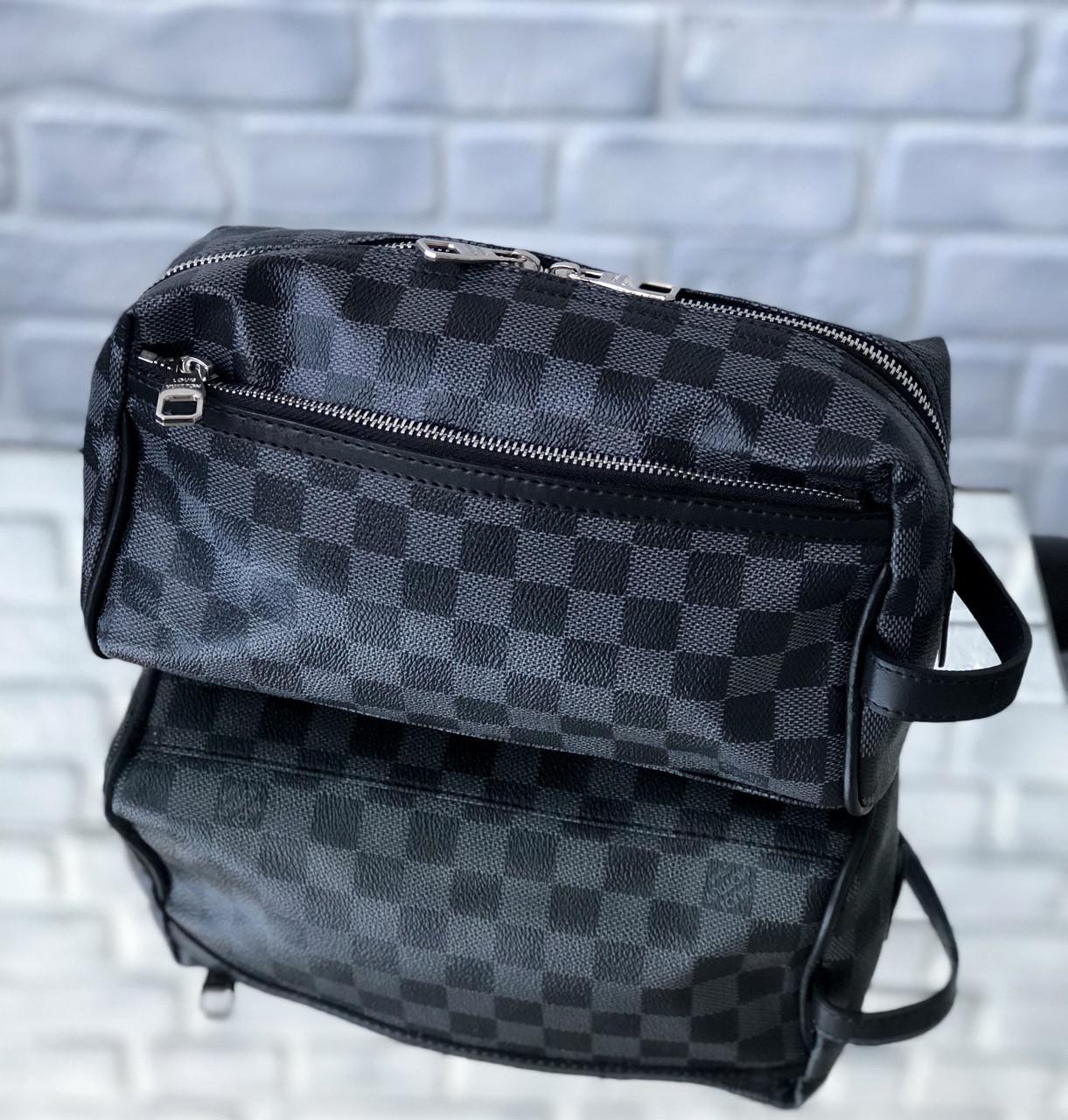 fbeee578fce8 Барсетка Louis Vuitton D2137 серо-черная - купить по лучшей цене, от ...