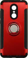 Чехол-накладка TOTO TPU Case Ring series 2 in 1 Xiaomi Redmi 5 Plus Red, фото 1