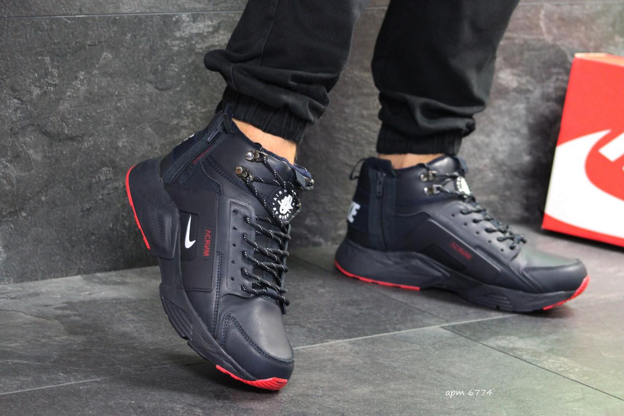 798a722a Мужские зимние кроссовки Nike Huarache синие( Реплика ААА+) - купить ...