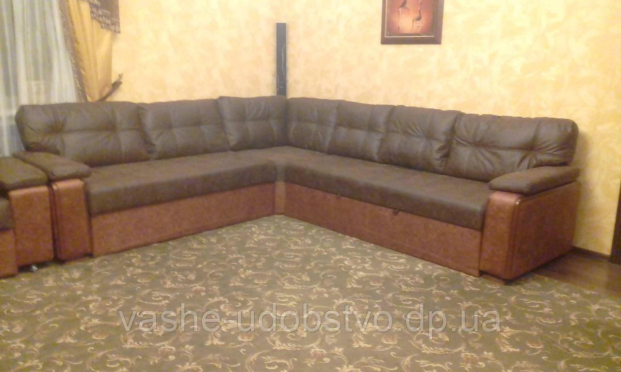 Угловой диван для гостиной на заказ от производителя.
