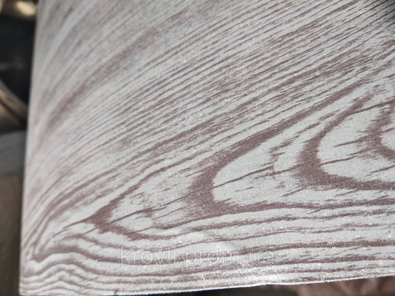 Профнастил ПС-8 0,4 мм Ламинированный Беленый дуб с 3D эфектом