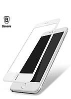 Стекло защитное 3D Baseus для iPhone 7/8 white (SGAPIPH8N-TG02)