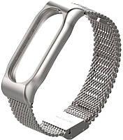 Ремешок UWatch Metallic Strap Fleet Chain For Mi Band 2 Silver, фото 1