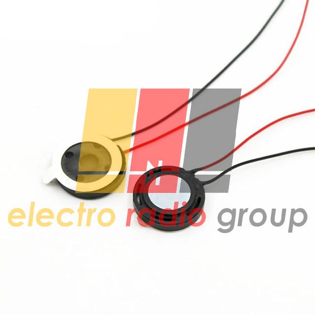Динамик круглый металлический 10мм 8 Ом 1Вт с проводом