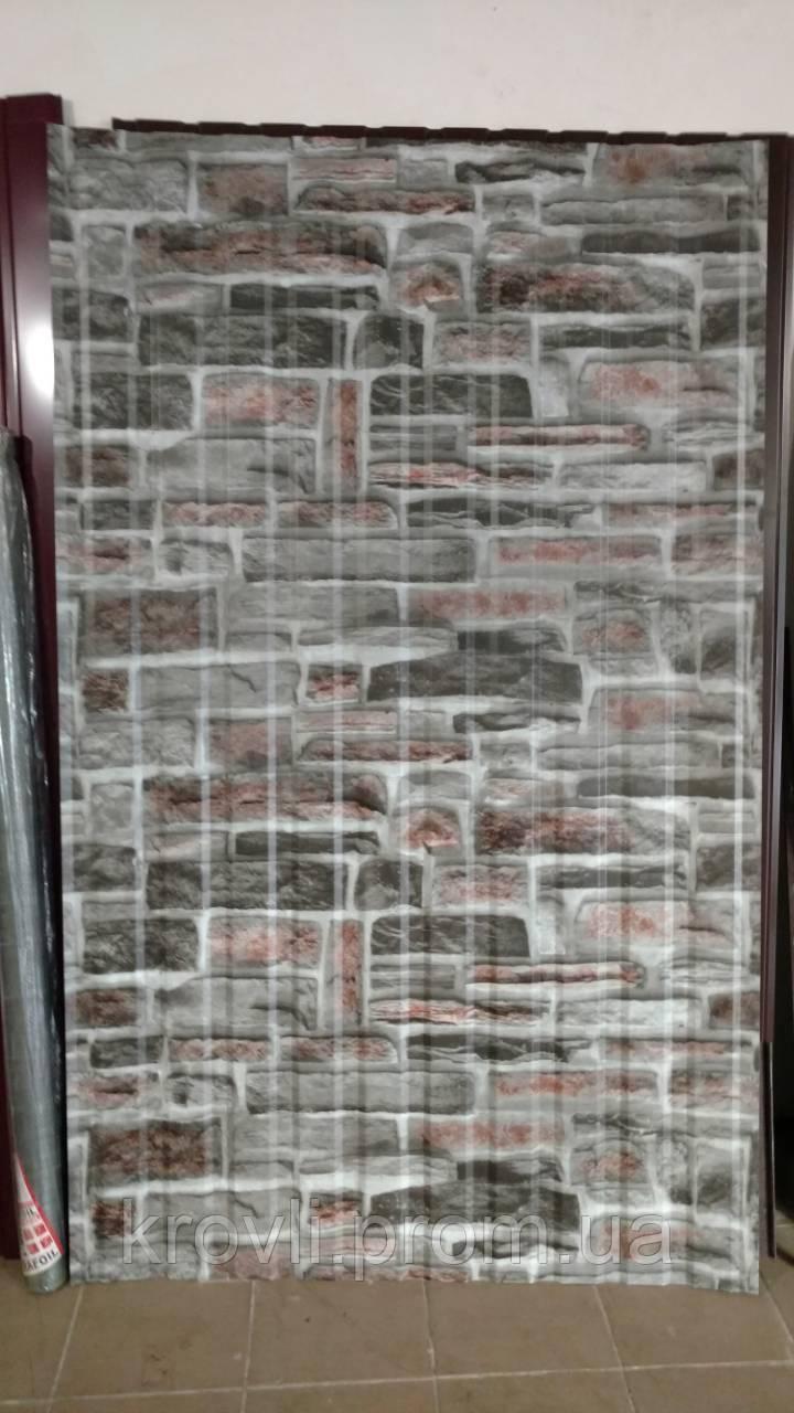 Профнастил ПС-8 0,31 мм Ламинированный Природный камень