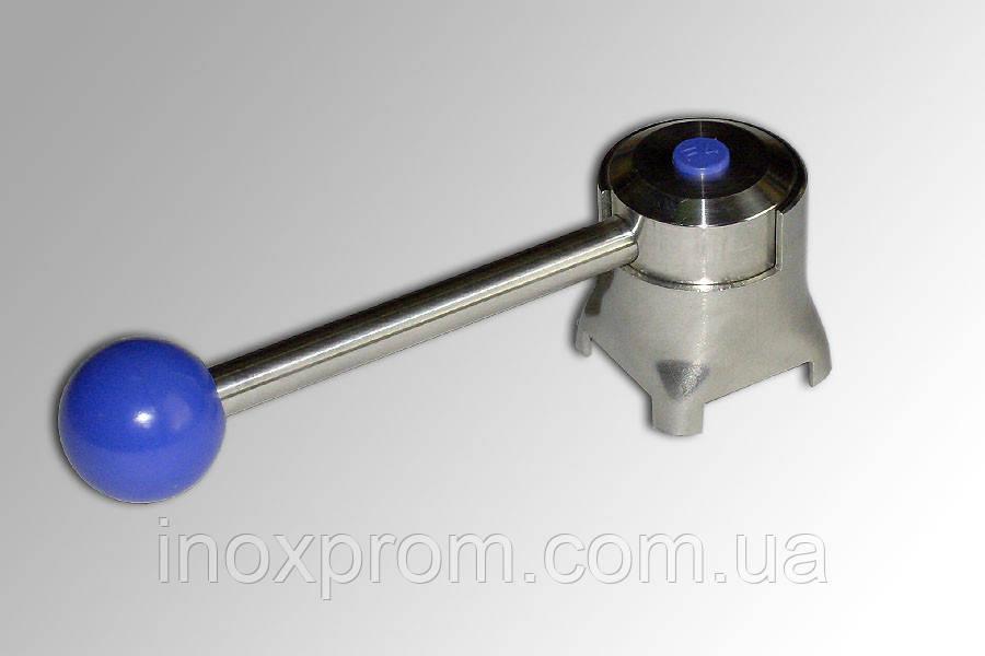 Рукоятка с шариком для дискового крана из нержавейки Ду 40-65