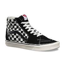 "Кеды Vans Checkerboard SK8-HI ""Black/White"" (Черные/Белые), фото 3"