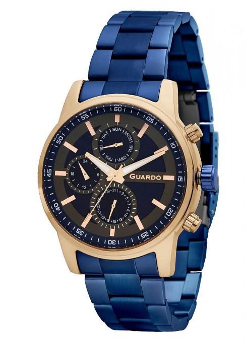 Чоловічі наручні годинники Guardo P11633(m) RgBlBl