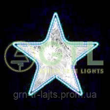 Светодиодный мотив Звезда Вариант №1 550мм х 550 мм