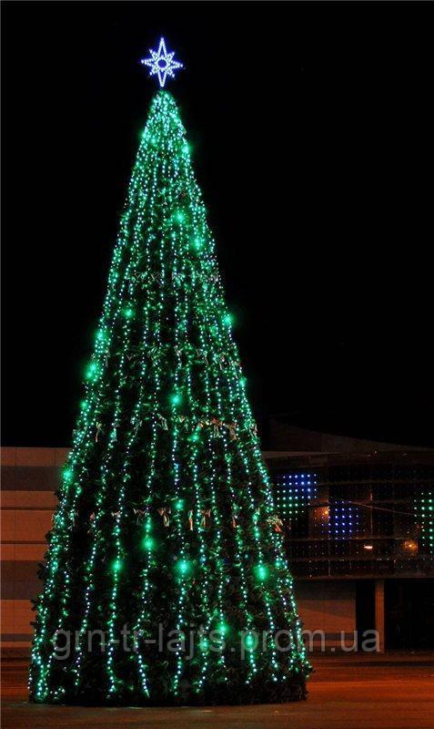 Иллюминация Flash Standart для уличной елки 14м (36 гирлянд по 10м)