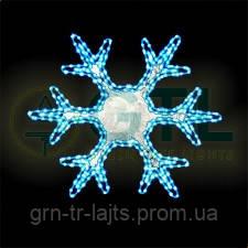 Светодиодный мотив Снежинка 700мм х 700 мм