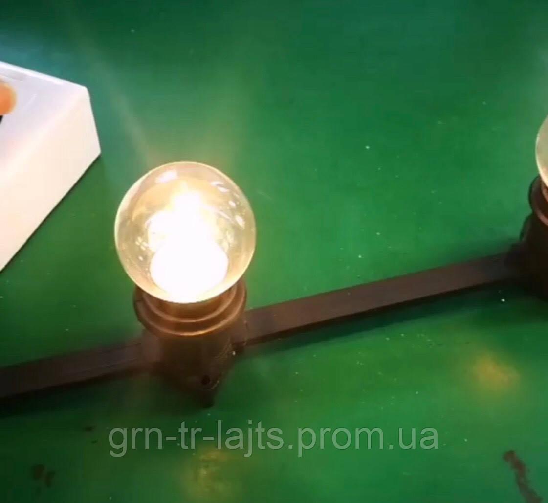 Лампа для светодиодной гирлянды Белт лайт теплый белый 1Вт