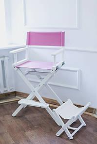 Стілець візажиста малиновий, стілець для режисера складаний, крісло візажиста