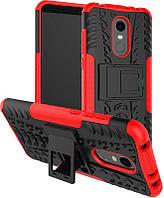 Чехол-накладка TOTO Dazzle kickstand 2 in 1 phone case Xiaomi Redmi 5 Red