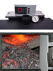 ПИРОЛИЗНЫЙ EKOT ОТ 12,5 KW Для помещения от 50м2 до 200м2 На дровах, брикетах до 12 часов на одной загрузке, фото 3