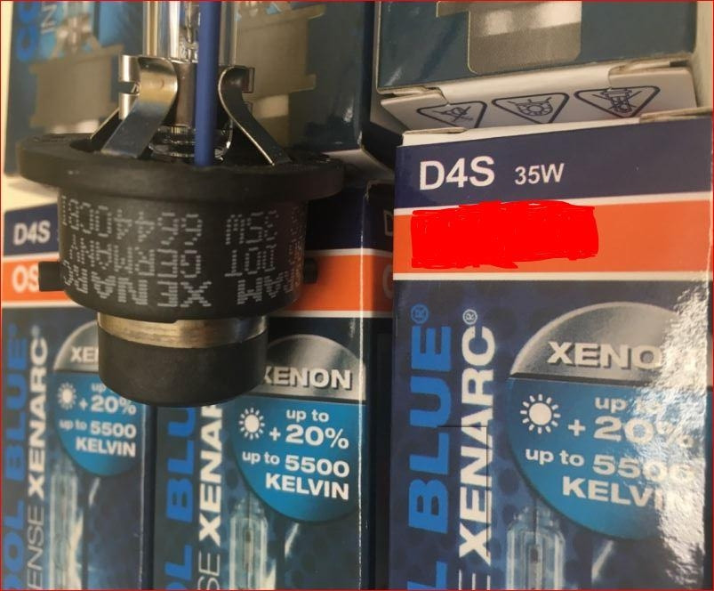 Ксенон D4S OSRM xenarc 66440CBI cool blue 5500К.