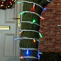 Уличная Гирлянда светодиодная нить, 20 м 200 led белый каучуковый провод, разноцветный, статический режим, фото 1